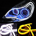 1 pcs 85 CM LED Tira Flexível DRL LED Daytime Running Luz com Sinal de Volta Switchback DRL CONDUZIU a Luz Do Tubo Branco Amarelo luz