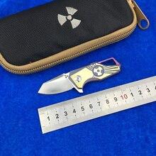 LEMIFSHE JK5313 Flipper folding knife s35vn steel blade titanium alloy handle camping outdoor kitchen fruit knife EDC tool цена 2017