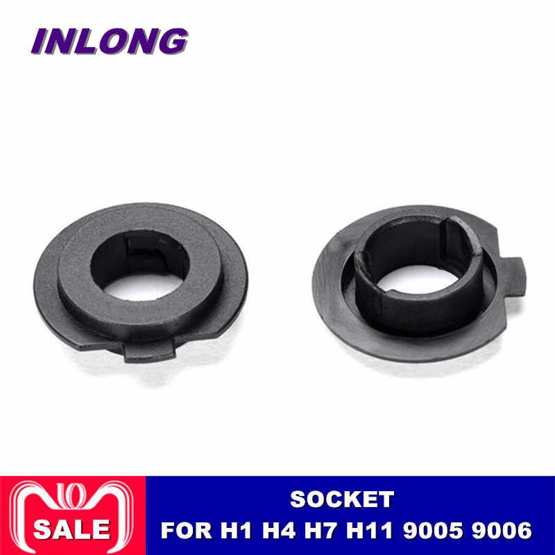 Inlong 2Pcs H7 LED Headlight Adapter Holder Base For LED H4 H1 H11 H8 H9 H13 9004 9005 9006 9007 880 Headlamp  Sockets LED Bulbs