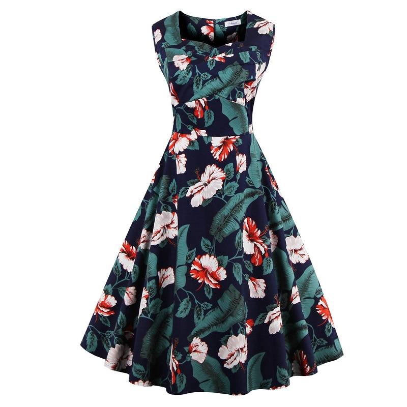 Vintage Women font b Dress b font Audrey Hepburn 1950s 60s Rockabilly Summer Party font b