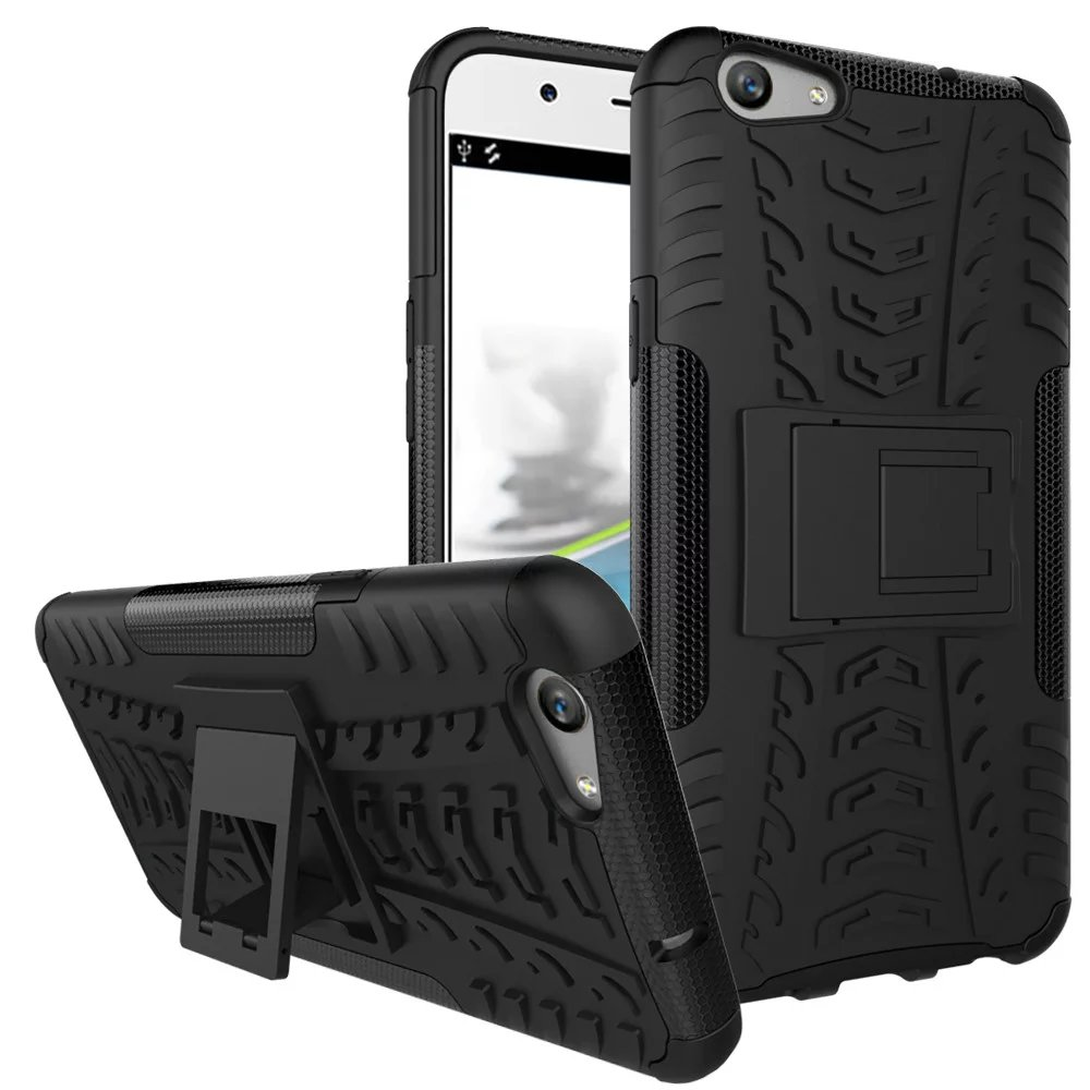 Tire Tough Dual Layer Rugged Hybrid Hard KickStand Armor Case Cover for OPPO A30 F1 F1S Plus A57 A35 A59 R9 A39