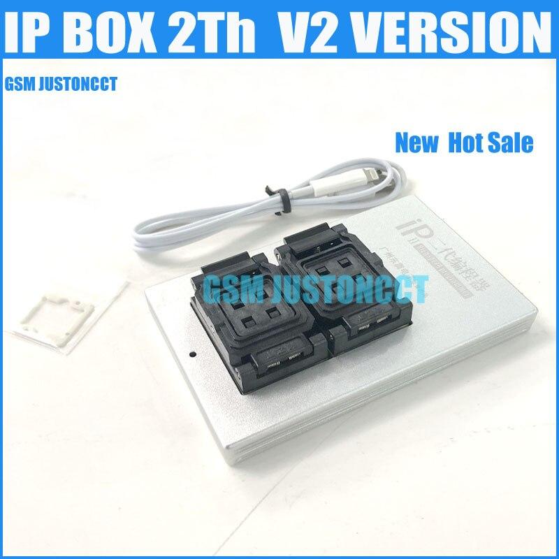 Nueva actualización caja IP V2 V3 2nd generación caja IP 2th PCIE Flash NAND programador para iPhone 5 5S 6 6 P + 6 S 6SP 7 P iPad2-Mini4 Pro
