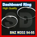 for Mercedes C Class W202 1994 1995 Cluster Gauge Dashboard Ring ABS Silver