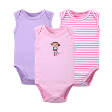 3 PCS/LOT 2017 Newborn Baby Clothes Cotton Baby Bodysuit On Baby Infant Animal Styles Boy Girl Long Sleeve Jumpsuit(China)