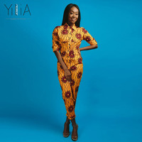 Yilia Womens Rompers Jumpsuit Summer 2018 New Women African Print Clothing Long Sleeves Casual Sexy Fashion