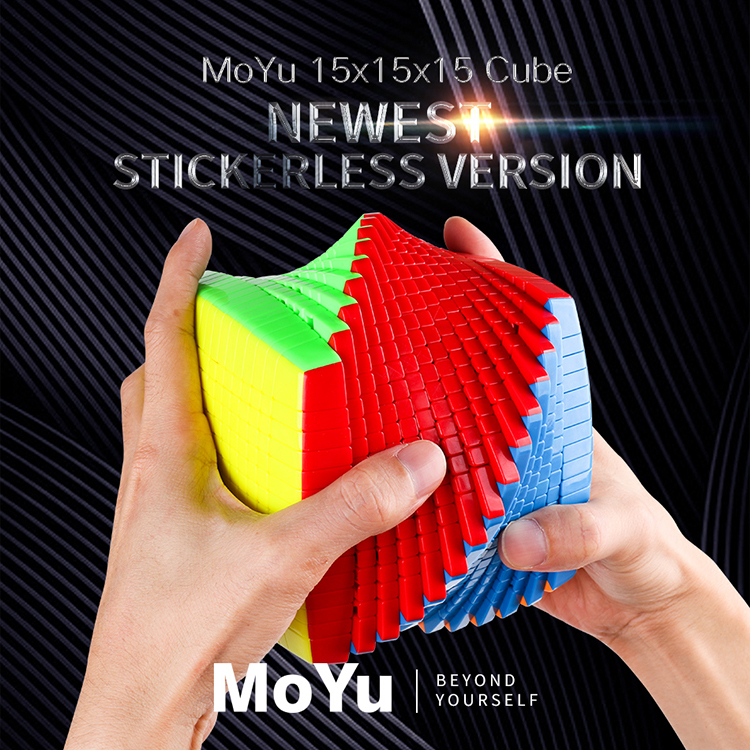 Nouvelle Promo MOYU 15 couches 15x15x15 noir, sans autocollant Cube vitesse magique Puzzle 15x15 éducatifs Cubo magico jouets pour enfant - 2