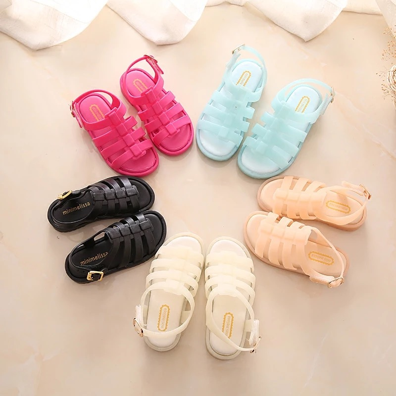 Mini Melissa 2019 New Summer Roman Shoes Girls Sandals