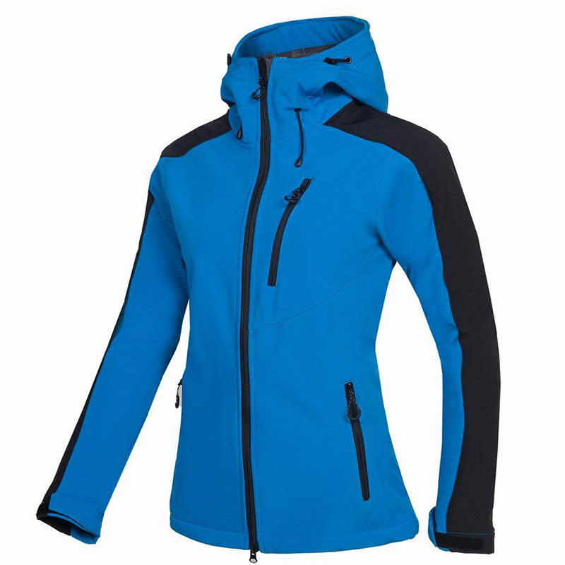 2019 Female Camping&Hiking Soft shell Waterproof Windproof Keep Warm Coats Winter Outdoor Fleece Skiing Climbing Fishing Jacket-in Hiking Jackets from Sports & Entertainment    1
