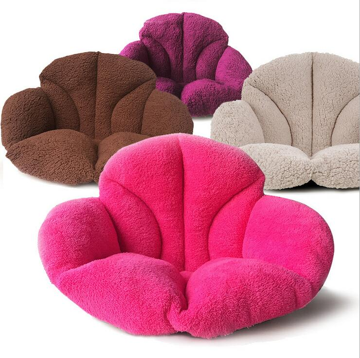Velvet Very Warm Back Cushions Plush Thick Office Seat Cushion Floor Hip Cozy Lounge