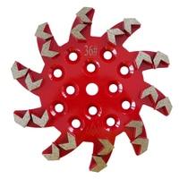 GD44 Universal Diamond Grinding Disc 10 Inch Concrete Grinding Pads Polishing Disc for Concrete Terrazzo Floor 3PCS