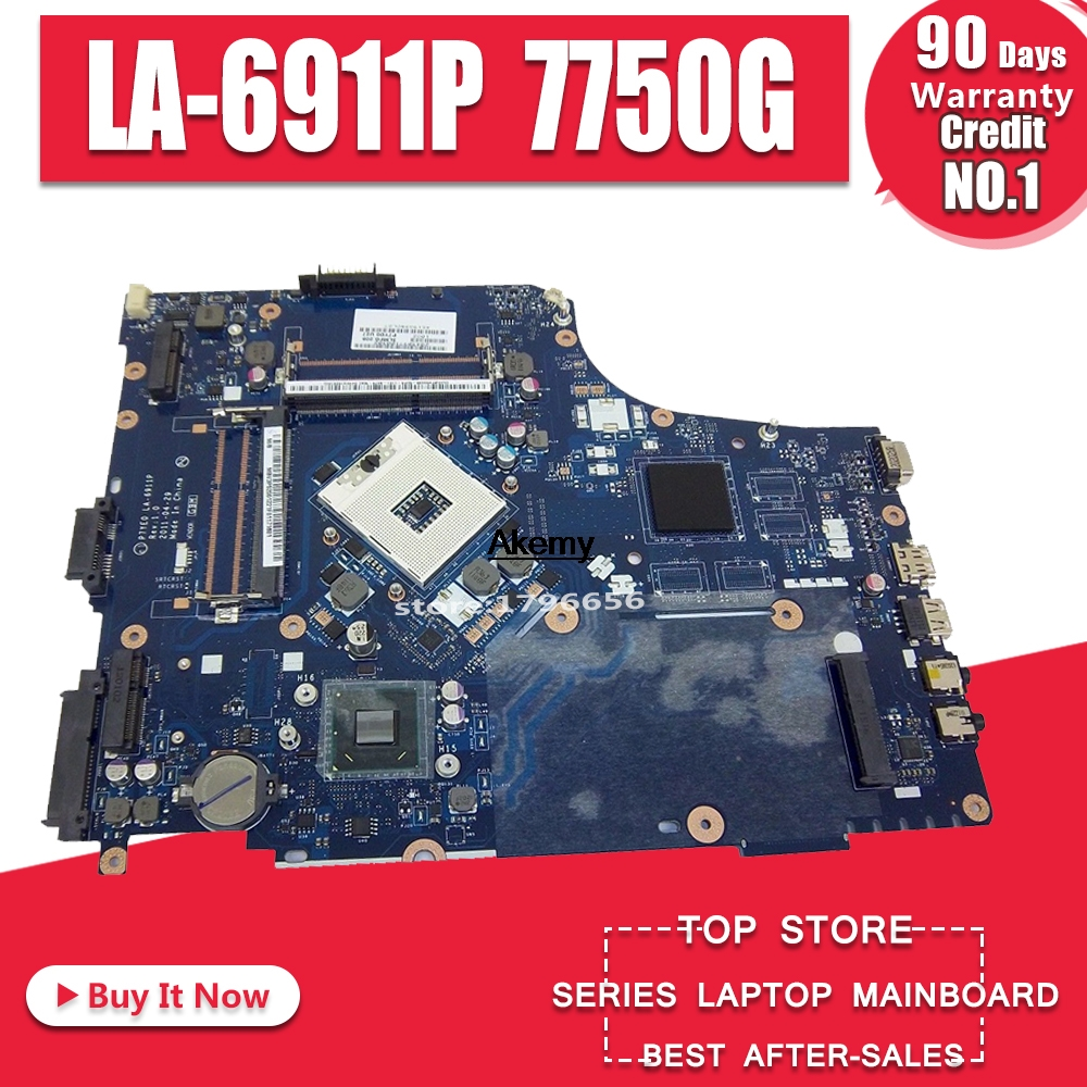 <font><b>7750G</b></font> motherbaord for <font><b>Acer</b></font> aspire laptop <font><b>motherboard</b></font> 7750 <font><b>7750G</b></font> MBRN802001 P7YE0 LA-6911P 3AMFG HM65 original 100% tested image