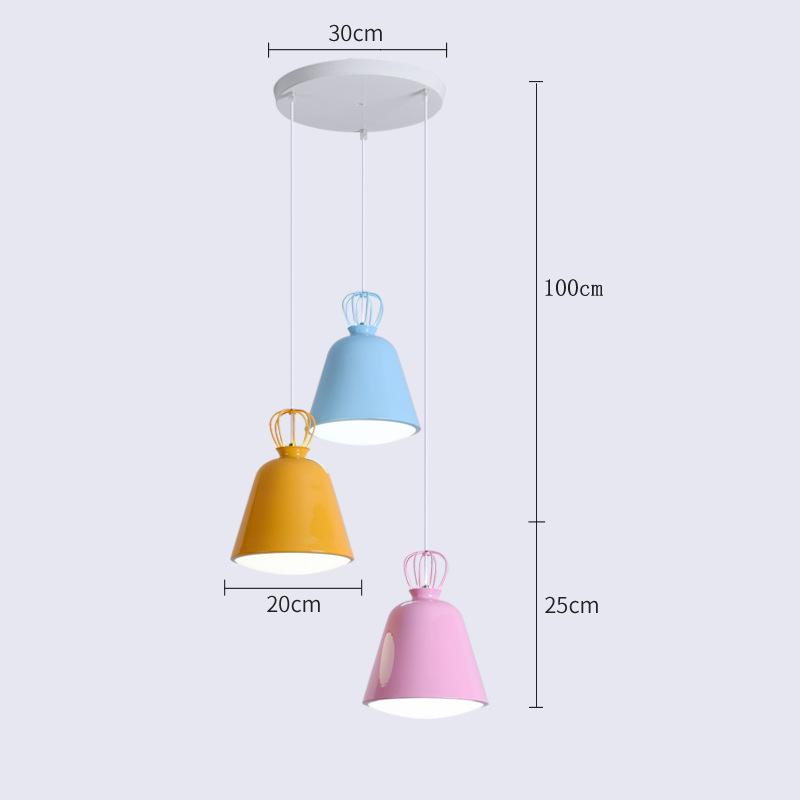 Restaurant chandelier modern simple LED personalized meal chandelier round table long Chandelier