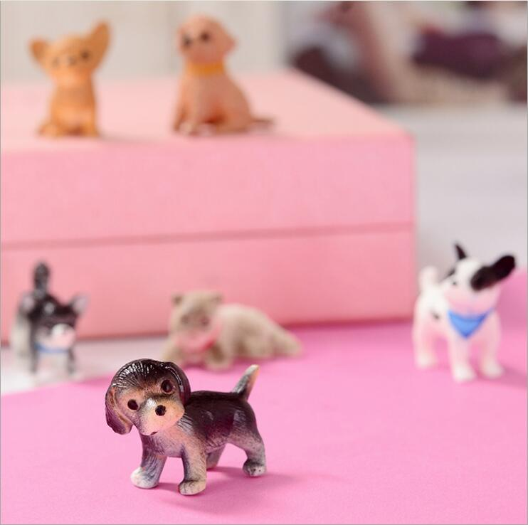 Simulation 3D PVC Dog Lovely Cat Dog Toys Action Figures PVC Model Toys Brinquedos Ornaments Room Decor Animals Dolls Kids Gifts