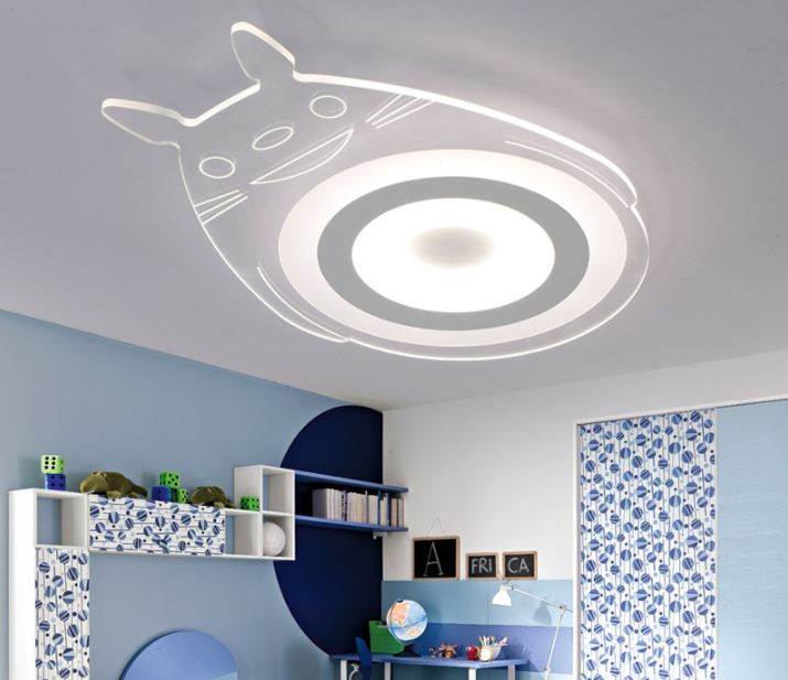 Ultra-thin led ceiling lamp cartoon creative totoro children bedroom lamp modern minimalist boy girl room lamp