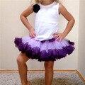 Bebé de La Princesa Del Cabrito de La Muchacha de Múltiples Capas de Tul Fiesta de Baile Falda Corta La Torta Falda Del Tutú 2-8Y