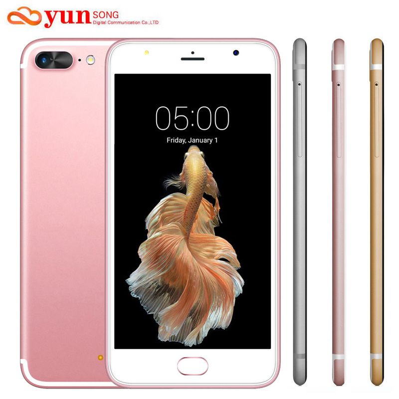 A7 Plus Mobile Phone 5 5 inch Screen 13MP camera Smartphone MTK6580 Quad Core telephone Android