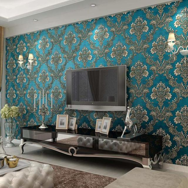 Living room wallpaper decorating