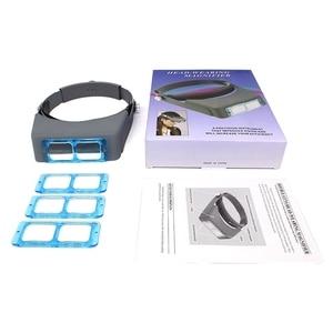 Image 5 - Loupe lunettes, tête pour bandeau basse Vision réparation de Loupe de lunettes, casque de troisième main, Loupe