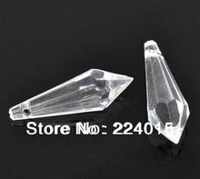 Freeshipping!50pcs/ 31x10mm Clear Transparent Tip Rhombus Beads  Faceted Acrylic Pendants Fit Jewelry Diy Accessories