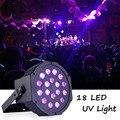 18 Вт УФ 18 светодиодные лампы для световых сценических эффектов света с DMX 512 ультрафиолетовая дискотека проектор света для вечеринки свадьб...