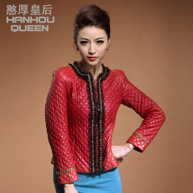 d6e3677cb5e20 Plus size Fashion NEW Ladies  genuine leather jacket