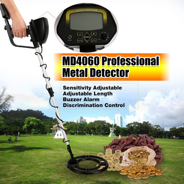 2018 ACEHE MD4060 Professional Portable Mini Underground Metal Detector Handheld Treasure Hunter Gold Digger Finder Length