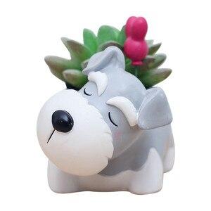 Image 5 - Lovely Corgi Dog Shaped Plant Decor Succulent Plants Decorative Flower  succulent can small plant pots planter wall