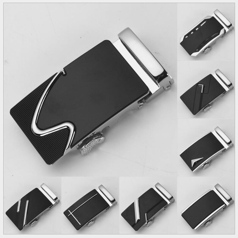 ZPXHYH Fashion Men's Business Alloy Automatic Buckle Unique Men Plaque Belt Buckles For 3.5cm Ratchet Men Apparel Accessories