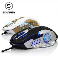 MORZZOR przewodowa mysz do gier 3200DPI światła LED RGB optyczne USB 6 przycisk mysz mysz laserowa cisza dla Mac komputer stancjonarny Laptop