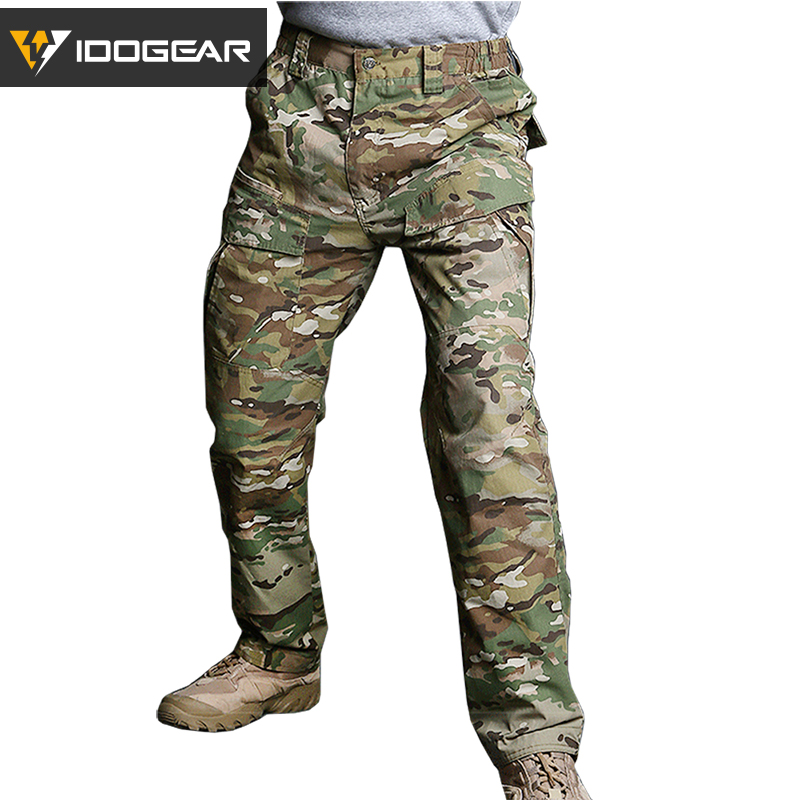IDOGEAR M2 Officer Duty Tactical Pants Hunting Combat Trousers Airsoft Camoflage MultiCam Black