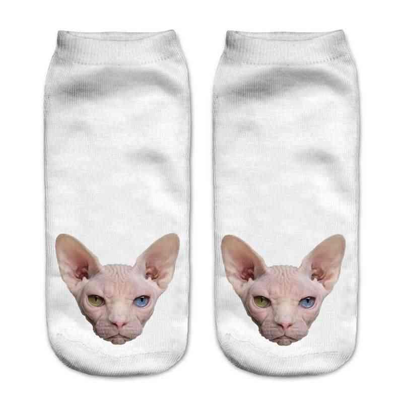 Оптовая продажа 3D Животные Сфинкс Кошка печатные носки для мужчин женские  милые носки унисекс Женские носки d15ed8e8841a0