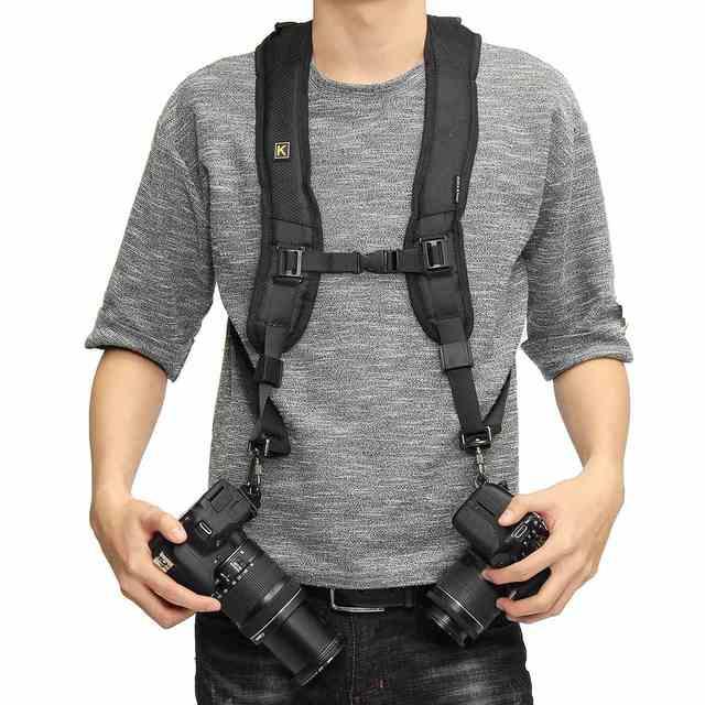 e351b73296e Quick Rapid Camera Double Dual Shoulder Sling Belt Strap For Nikon For Sony  For Canon SLR Camera Shoulder Strap