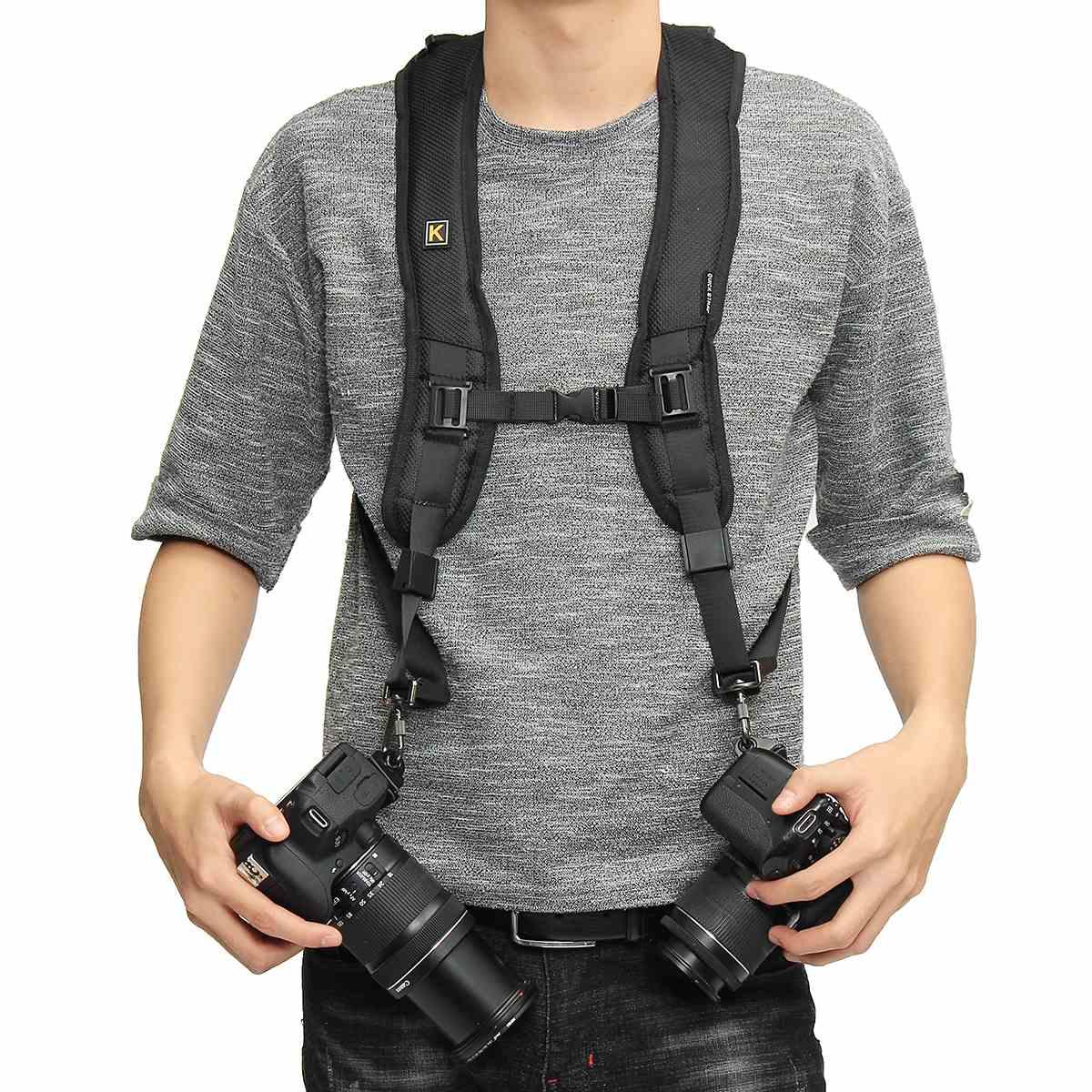 Quick Rapid Camera Double Dual Shoulder Sling Belt Strap For Nikon For Sony For Canon SLR Camera Shoulder Strap