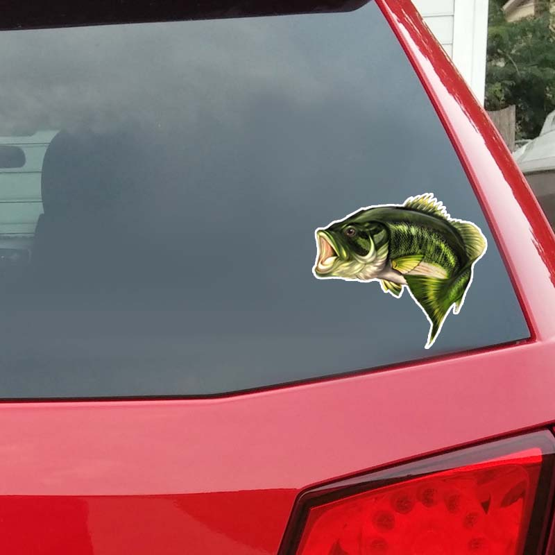 15 2cm 13cm Large Mouth Bass Fish Car Pvc Decal Sticker