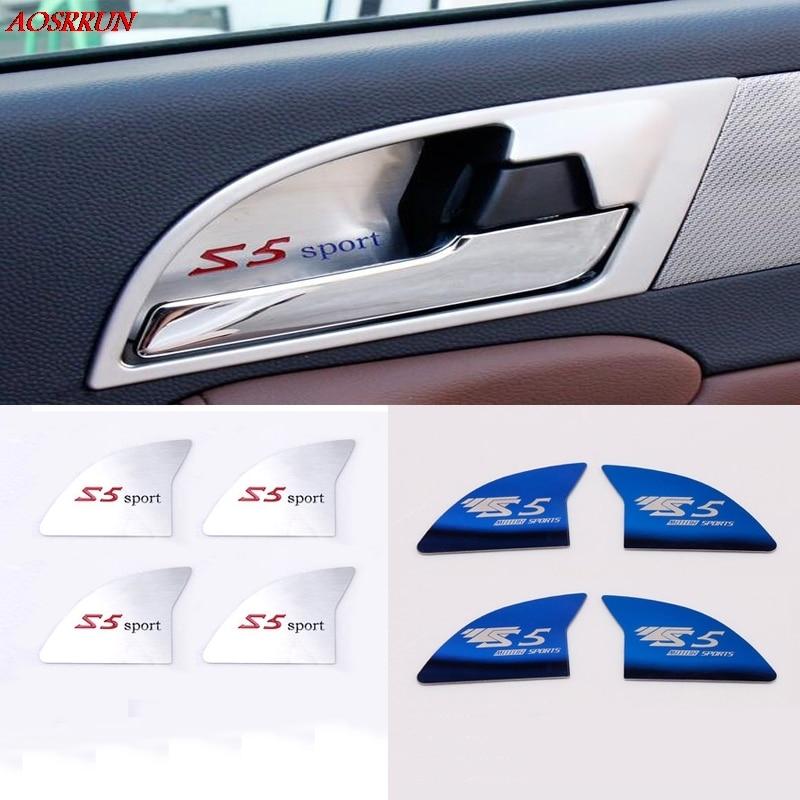 4pcs fit for Jac refine s5 2013 2014 2015 Door Handle Armrest Internal Stainless Steel Trim Sticker Decoration Cover Car Styling цена и фото