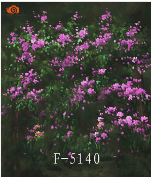 Professional10X10ft Nature scenic flower screen photography background,hand painted muslin photo backdrops for great studioF5140
