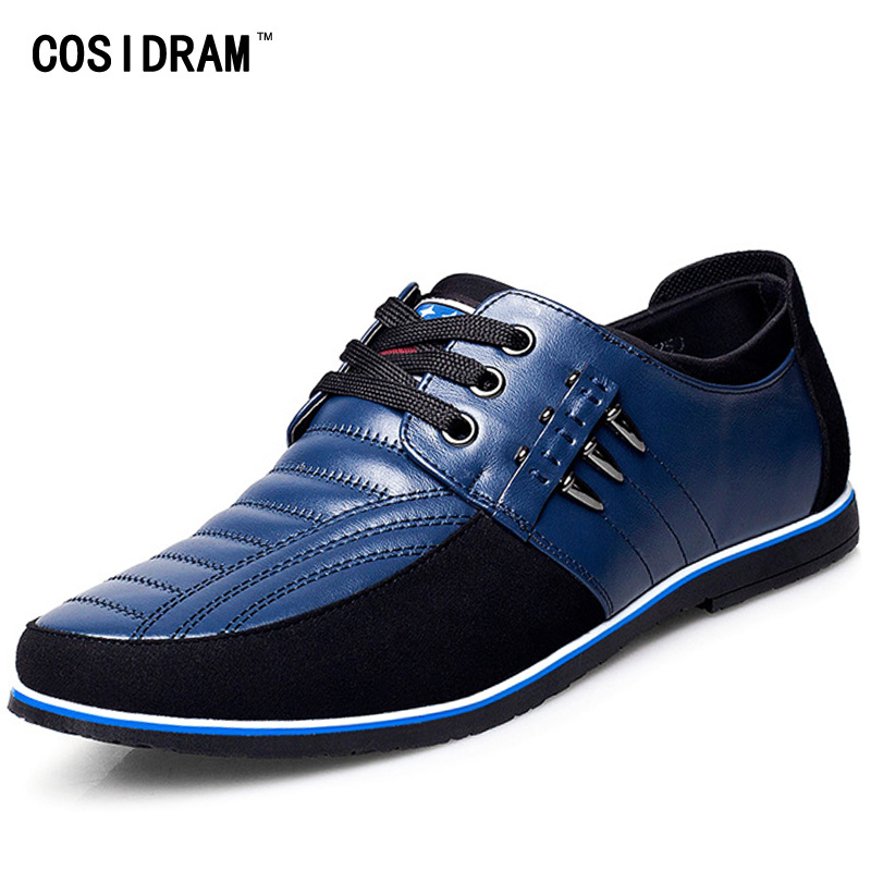 COSIDRAM New 2017 Genuine Leather AAA Men Shoes, Rubber Sole Men Casual Shoes, Fashion Autumn Male Footwear For Men RMC-028 spring autumn men loafers genuine leather casual men shoes fashion driving shoes moccasins flats gommino male footwear rmc 320