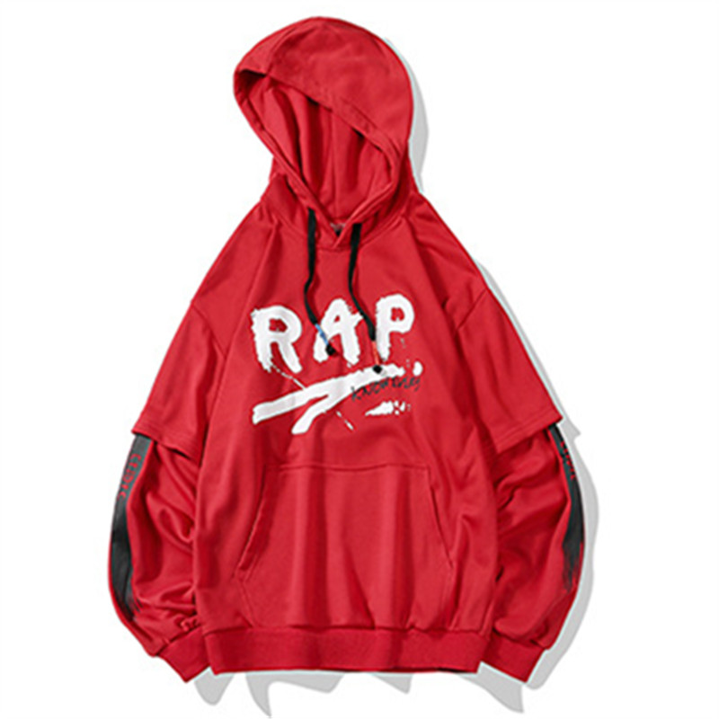 Sweatshirt RAP Letter Spring Hip-Hop Autumn Sports Cotton Fashion Personality Men Coat