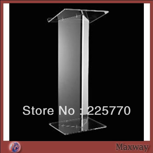 Transparent Acrylic School Lectern /acrylic Platform /perspex Rostrum /plexiglass Dais Cheap Church Podium