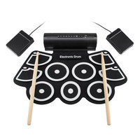 Electronic Drum Percussion Instrument USB Electronic Drum MD760 Thick Silicone Hand Roll Drums