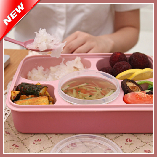 4 compartments bentofood box for kids food container bento for food tableware. Black Bedroom Furniture Sets. Home Design Ideas