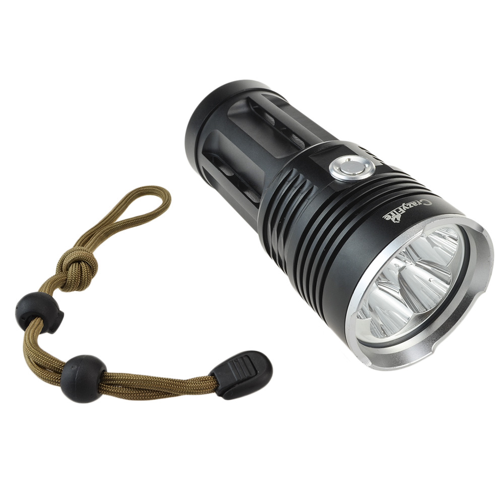 CrazyFire 6000 Lumen Flashlight Super Bright 5 Cree XML T6 Camping Hunting Lanterna LED Luz De Flashlight Torch By 18650 Battery crazyfire led flashlight 3t6 3800lm cree xml t6 hunting torch 5 mode 2 18650 4200mah rechargeable battery dual battery charger