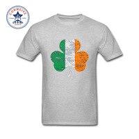 2017 Hot High Quality Cotton Irish Flag Funny T Shirt For Men