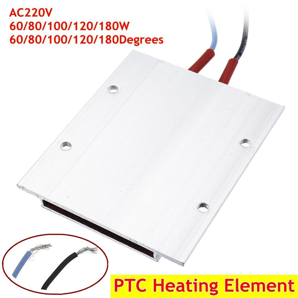 220V  60/80/100/120/180Degrees Constant Temperature Ceramic Aluminum Heater PTC Heater  PTC Heating Element Shell 77*62mm