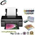 Máquina de la impresora para epson a4 photo t50 impresora-con ciss + tinta de pigmento + bandeja DE PVC + Papel Fotográfico Libre Envío