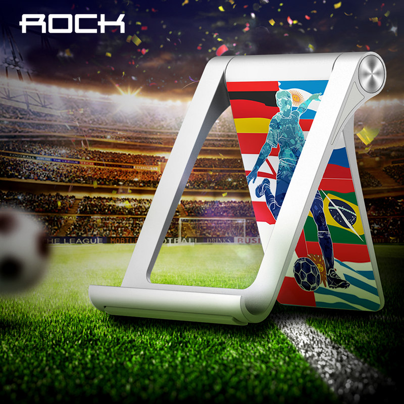ROCK Phone Holder Foldable Mobile Phone Stand for iPhone Samsung Tablet Stand Desk Phone Holder for World Football Competition