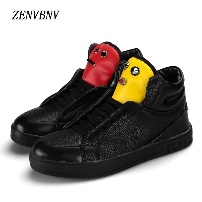 Zenvbnv 2017 Высокое качество зимние Мужские лёгкие ботинки модная Корейская версия индивидуальность Для мужчин высокий каблук Топ Повседневна…