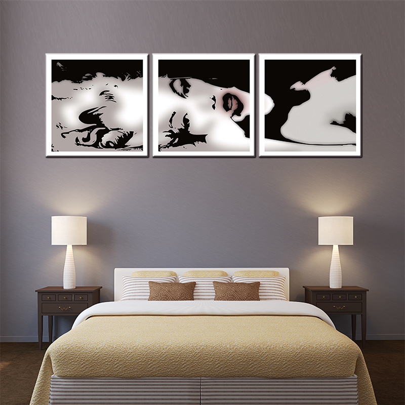 3 pieces about famous movie star USA Norma Jean Remix canvas painting for living room wall art pictures oil painting for pub