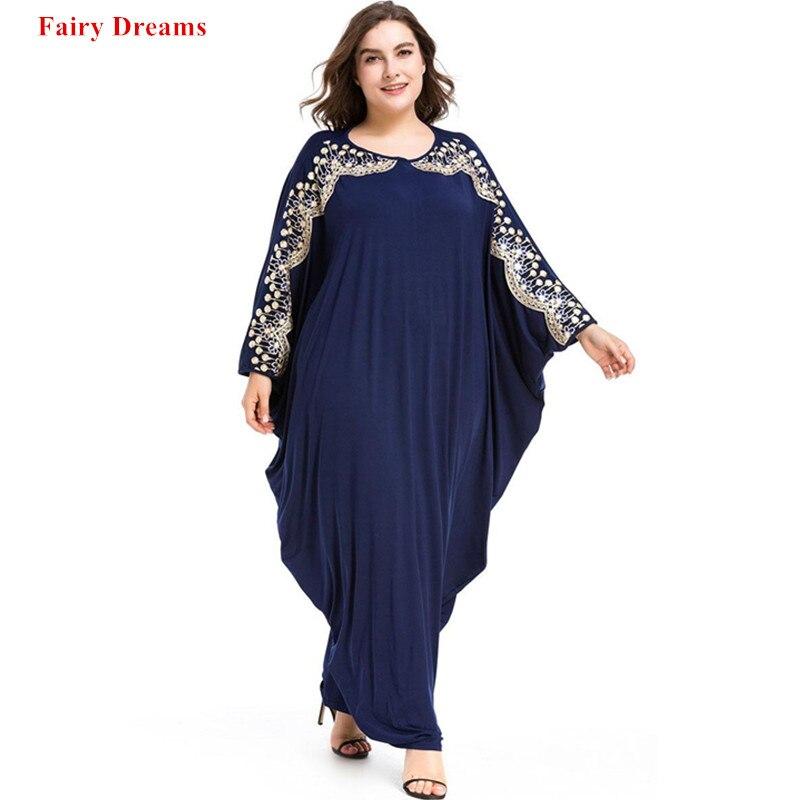83b2029ea5d7d US $21.81 Plus Size 6xl Abaya Turkey Arabic Islam Muslim Long Tops ...