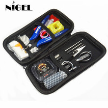 Vape Tool Kit For RDA RDTA RTA Atomizer Vaporizer DIY Master 15 Tools Bag Tweezers Pliers Wire Heaters Cotton Scissors Coils e xy 4 piece coil tools master kit for rda rba rta rdta atomizer rebuild vape mod vaporizer master kit